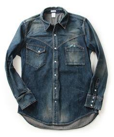 International Gallery BEAMSの【予約】Mynt Denim / CENT デニムウエスタンシャツ(Real Used)です。こちらの商品はBEAMS Online Shopにて通販購入可能です。