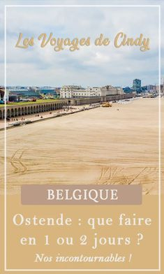 Que faire à Ostende en 1 ou 2 jours ? Nos incontournables #belgique #europe #ostende #blogvoyage Voyage Europe, Blog Voyage, Beach, Water, Outdoor, Belgium, Gripe Water, Outdoors, The Beach