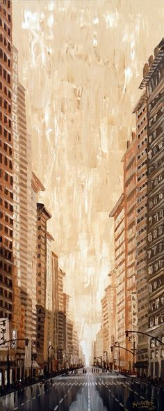 """NEW YORK 1"" By Socrates Rizquez - Acrylics on panel. www.socrates-art.es"