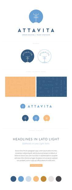 Brand Reveal for Attavita by AllieMarie Design Brand Identity Design, Branding Design, Branding Kit, Corporate Branding, Minimal Logo Design, Graphic Design, Watermark Design, Photography Logo Design, Brand Style Guide