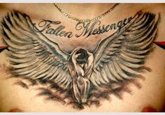 fallen angel tattoos for women
