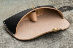 MEKU <b>Women</b> Men Handmade Leather Collection Hard <b>Eyeglass</b> ...