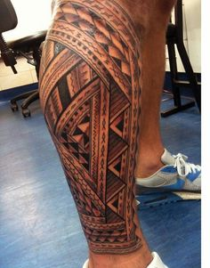 Tribal Leg Tattoos For Guys Polynesian Leg Tattoo, Polynesian Tattoo Designs, Hawaiian Tattoo, Samoan Tattoo, Calf Sleeve Tattoo, Calf Tattoo Men, Sleeve Tattoos, Best Leg Tattoos, Arm Tattoos For Guys