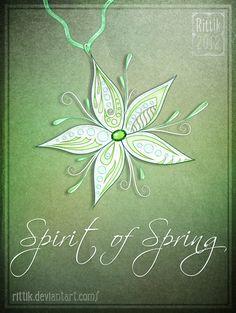 Amulet - Spirit of Spring by Rittik.deviantart.com on @DeviantArt