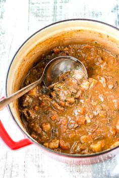 Italian Beef Stew Lemon Asparagus, Italian Dinner Recipes, Chili Soup, Italian Beef, Carrots And Potatoes, Roma Tomatoes, Soups And Stews, Curry, Stuffed Peppers