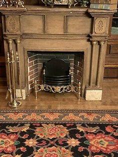 Dollhouse Miniature Artisan Brass And Black Coated Fireplace Box George Chapman? | eBay Fireplace Box, Dollhouse Miniatures, Artisan, Brass, Places, Ebay, Doll House Miniatures, Craftsman, Lugares