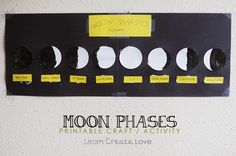 99 Creative Moon Projects - Printable Moon Phase Craft Activity