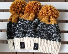 Knitted Hats Kids, Knitting For Kids, Kids Hats, Loom Knitting, Knitting Projects, Baby Knitting, Knitting Patterns, Crochet Hats For Girls, Crochet Projects
