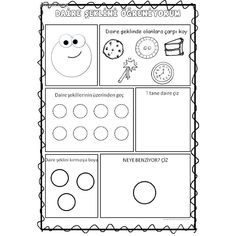 Early Learning, Worksheets, Preschool, Shapes, Geometric Fashion, Infant Activities, School, Bees, Note Cards