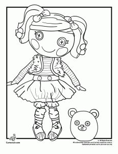 Mittens Fluff N' Stuff Doll Lalaloopsy Coloring Page