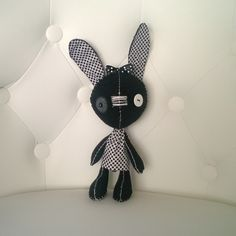 Black and White Bunny Stuffed Animal Goth Gift Ooak Plush Plushie Soft Softie Rabbit Hare Easter by MyWillies on Etsy https://www.etsy.com/listing/269442563/black-and-white-bunny-stuffed-animal