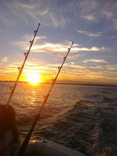 Watching the sunset after deep sea fishing! Priceless!