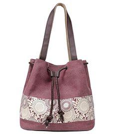 d595ca946a75 Hiigoo Printing Canvas Shoulder Bag Retro Casual Handbags... Net Fashion