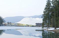 """Speed Skating Stadium """"Max Aicher Arena"""" by Behnisch Architekten as Architects"""