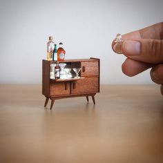 miniature drinks cabinet