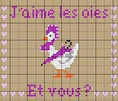 Cuisine - kitchen - oie - point de croix - cross stitch - Blog : http://broderiemimie44.canalblog.com