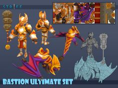 ArtStation - Bastion Ultimate Set, Romel Revollo