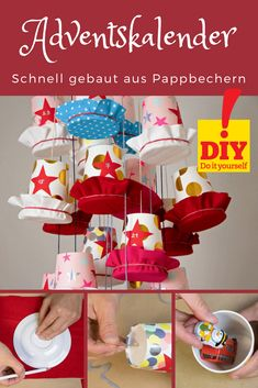 Last minute handicrafts: surprise your loved ones with this colorful advent calendar! - To sweeten the pre-Christmas season, we are simply making the Advent calendar ourselves this year. Pre Christmas, Christmas Gifts, Xmas, Birthday Rewards, Birthday Gifts, Fete Halloween, Presents For Her, Candy Wrappers, Inexpensive Gift