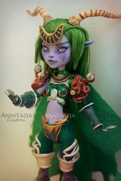 Monster High custom OOAK Customized doll Ysera World of Warcraft