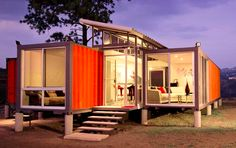 Containers of Hope project:  Recycled shipping containers used to make a beautiful home in Costa Rica!