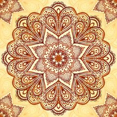 Ornate vintage vector napkin