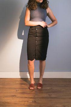 The Updated Pencil Skirt — Cladwell Waist Skirt, High Waisted Skirt, Modern Minimalist, Business Casual, Pencil, Skirts, Fashion, Moda, Skirt