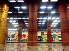 lisboa metro olaias station Metro Station, Lisbon Portugal, Art World, Lights, City, Design, Lisbon, Tiles