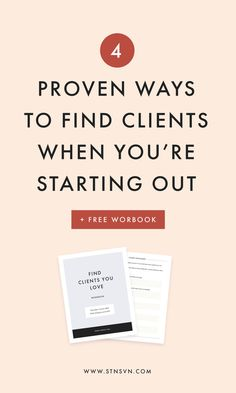 4 Ways to Find Clients When You're Just Starting Out — Station Seven: Squarespace Templates, WordPress Themes, and Free Resources for Creative Entrepreneurs Starting A Business, Business Planning, Business Tips, Online Business, Business Coaching, Facebook Business, Business Goals, Business Website, Business Marketing