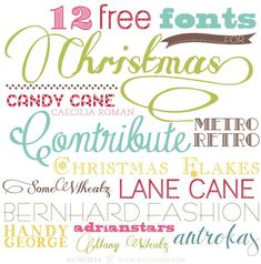 12 Free Fonts For Christmas - Fonts - Ideas of Fonts - 12 Free Fonts For Christmas Blog Fonts, Photoshop, Christmas Fonts, Holiday Fonts, Christmas Desktop, Simple Christmas, Christmas Diy, Typographie Fonts, Fancy Fonts