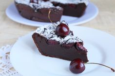 Chocolate Clafoutis with cherries | Recipe