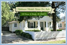 159 Kenan St is a precious Midtown Mobile Cottage.This home for sale in Midtown Mobile has curb appeal that is second to none; with the large open front porch, mature landscaping, and classic white picket fence that is the 'icing on the cake.'