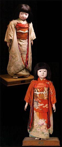 Japanese Friendship Dolls of 1927 - Antique Japanese Dolls- Miss Saitama (top) & Miss Osaka-fu (bottom)