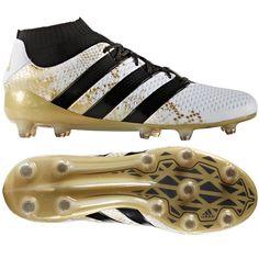 premium selection 3a648 8feb8 Adidas ACE 16.1 Primeknit FG Soccer Cleats (WhiteBlackGold Metallic)   Adidas Soccer Cleats  FREE SHIPPING  Adidas S76474  Adidas ACE soccer  boots ...