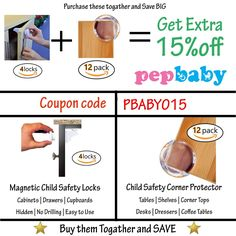 Baby Proofing Corner Protector Guards Pack] Child Safety Edge/Cushion Corner Guard to Keep Children Safe from Furniture's Sharp Corners - Great Baby Shower Gift Baby Corner, Table Shelves, Child Safety Locks, Childproofing, Baby Safety, Cool Baby Stuff, My Coffee, Kids Furniture, Packing