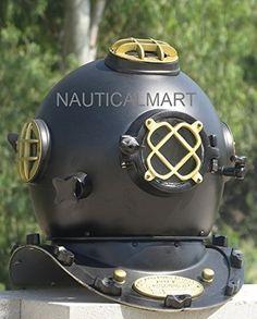 Yellow Full Size Divers Diving Helmet Scuba Us Navy Mark V Diving Helmets Maritime Sensible Antique Anchor Engg