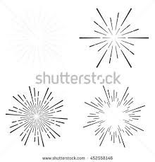 vector monochrome starburst ray logo by Rommeo79 on @creativemarket ...