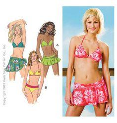 Sewing Pattern - Womens Pattern, Swimsuit Pattern, Bikini Pattern in Two Views, Wrap Pattern  - Kwik Sew #K3330 on Etsy, $10.50