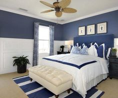 maritimes schlafzimmer interior
