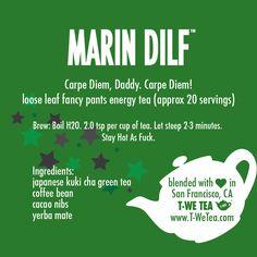 Marin DILF - Organic Japanese Kuki Cha, Yerba Mate, Coffee Bean, Cacao