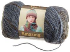 Amazon.com: Lion Brand Yarn 825-212 Amazing Yarn in Olympia (3-4 balls)