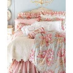 Horchow. Some small part of me deeply loves this. for a summer home and/or a little girl.