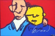 Currently at the Catawiki auctions: Herman Brood - Forever - signeerde silk screen print on canvas