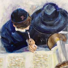 Putting the last letter onto the Torah.