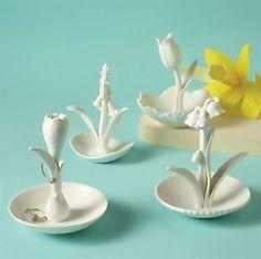 Porcelain Flower Ring Holder