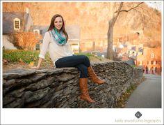 Natural light senior portraits for Tuscarora High School in Leesburg VA.  Taken in Harpers Ferry WV.