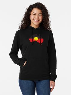 """""""Aboriginal Flag In Australia Map #1"""" Lightweight Hoodie by SalahBlt 