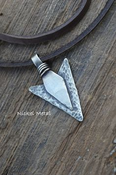 Arrow Head Necklace // Men's Tribal Jewelry // Personalize Initial Pendant // Father's Day Gift Idea // Handmade by Korey Burns on Etsy, $24.00