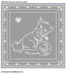 Free Filet Crochet Cat Patterns   ... filet crochet doily wallhanging pattern   CROCHETBYDASMADE - Patterns