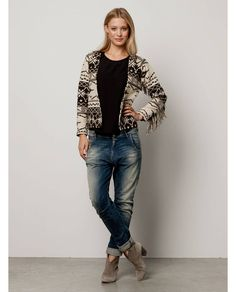 Prairie inspired ikat jacket with fringed sleeves - Jackets - Official Scotch & Soda Online Fashion & Apparel Shops