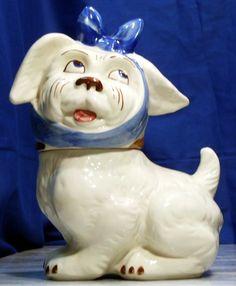 MUGGSY TOOTHACHE DOG COOKIE JAR, BY SHAWNEE